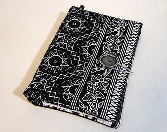 Notebook, Black, Coupon Organizer, Thai Batik, Wallet, Paper, Pen, List Maker