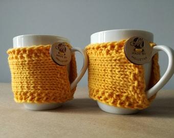 Coffe tea mug, knit cozy mug , mug sleeves, mug warmer, READY TO SHIP