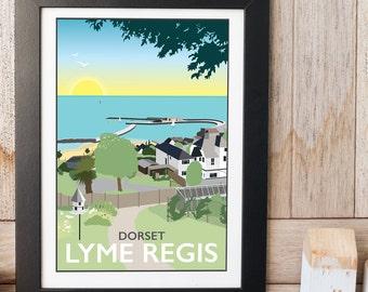 Lyme Regis, Dorset print