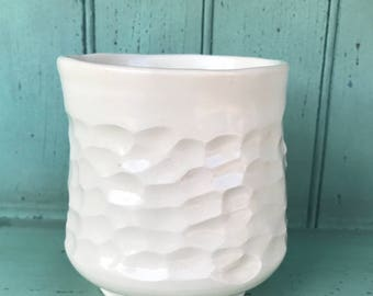 Porcelain Juice or Wine Cup in Summer White