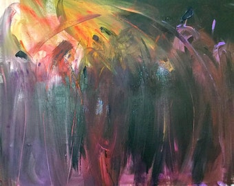 Cant Hold It In Any More - Original Abstract Acryllic painting on canvas