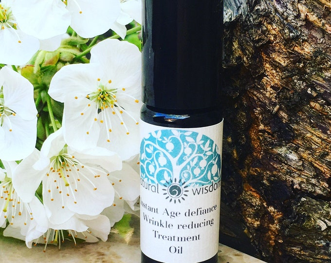 Instant Wrinkle Reducing Serum. Concentrated Spilanthes Flower Extract. By Natural Wisdom