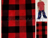 Tomato Red & Black Buffalo Check Flannel Family l Pajamas Pant Teen Child Toddler Infant Baby Plus Size Adult Matching Sibling Pajama