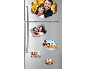 Custom Made Fridge Magnets / Picture Printed Waterproof Magnet for Refrigerator / Memo Family Photo Magnets / Personalised Magnets + Decal