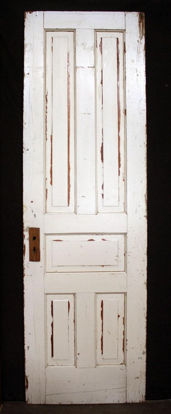 26 X84 Antique Vintage Victorian Solid Wood Wooden Interior Door 5 Raised Panel From
