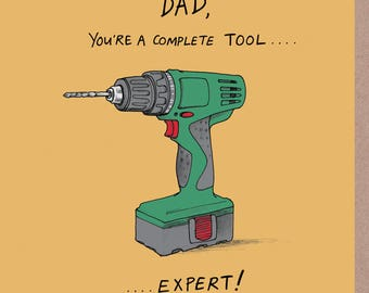 Complete tool Father's Day card