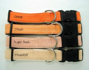 Dog Collar- Peach Dog Collar,Orange Dog Collar,Light Peach Dog Collar