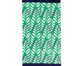 Island Palm Beach Towel for poolside and beach this large Towel is the perfect personalized gift. It's all in the details, botanical print!