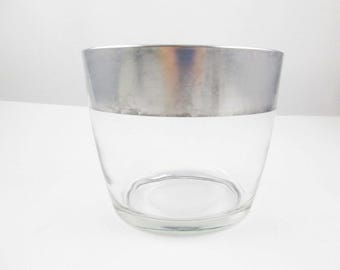 Dorothy Thorpe Sterling Silver Rimmed Ice Bucket - 1930-50s Style - Collectible - Multi-tasking For Parties