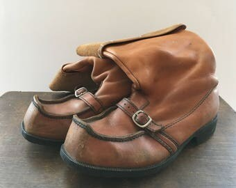 Leather boots Made in Finland Sami leather boots Camel brown genuine leather Lappish boots Scandinavian men boots