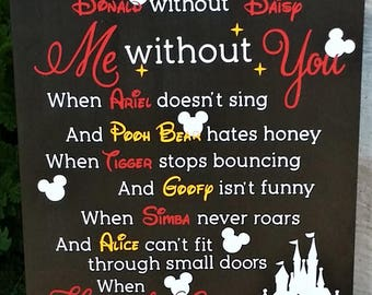 Disney wood sign, Disney decor, Disney love, wood sign, children's room decor, Love, Mickey, Minnie
