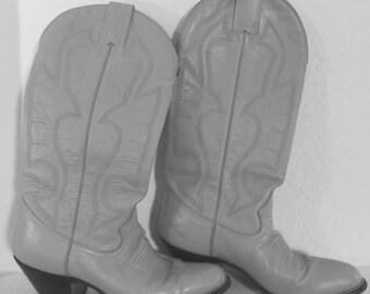 Grey Montana Cowboy Boots 7.5