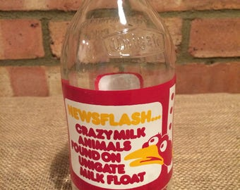Vintage '80's milk bottle Unigate