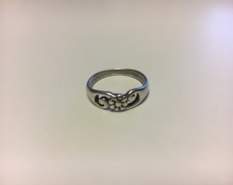 1970s Sterling Silver Floral Ring