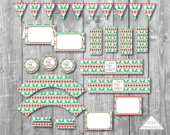 Ugly Sweater Party, Ugly Christmas Sweater Party, Ugly Sweater Christmas Party, Printable Party, Ugly Sweater Printables