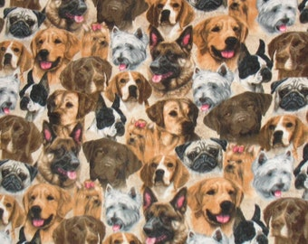 A Bunch of Dogs Printed Fleece Throw Blanket