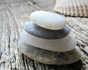 Zen Stacking Rocks - Beach Stones - Zen Stones - Rock Cairn - Desktop Zen Garden Decor - Meditation Alter - Friend Stress Relief Gift