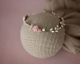 Newborn Floral Halo, Rose Halo, Photography Prop