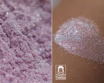 Eyeshadow: Apple Blossom Spirit - Fairy. Cold-purple shimmering eyeshadow by SIGIL inspired.