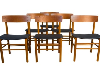 Six Farstrup Teak Dining Chairs Mid Century Danish Modern