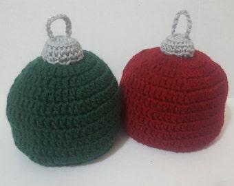 Crochet Christmas Ornament Hat