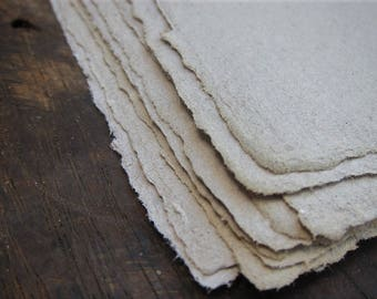 """Grey Handmade paper, Recycled paper sheets, Eco friendly Invitation paper, Craft paper, Natural Homemade, 4  sheets 8.5 x 12""""  A4 paper_"""