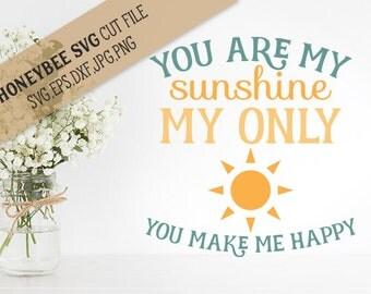You Are My Sunshine svg Sunshine svg Love svg Country Chic svg Farmhouse svg Country decor svg Silhouette svg Cricut svg jpg eps dxf