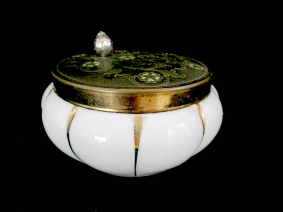 Vintage Jewelry Music Box, Fine Porcelain, Etched Top, Musical Jewelry Box, Ring Dish, Around the World in 80 Days, Mothers Day Gift