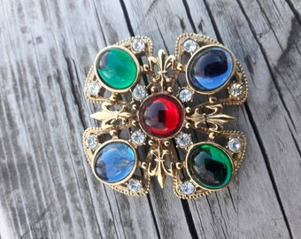 Vintage Pin Brooch Signed P.E.P