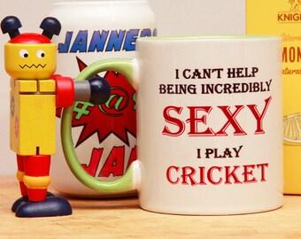 Sexy Cricket Mug cricketer gift for cricketer, cricket gift, gifts for cricketers, cricket player mug, cricket player gift,   E1047