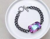 Cotton Candy Crystal Chain Bracelet
