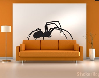 "Black Widow Spider Vinyl Wall Decal Graphics Bedroom Home Decor 54"" x 23"""