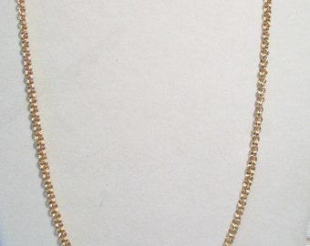 Vintage Sarah Coventry Rolo Chain Necklace Gold Tone Costume Jewelry