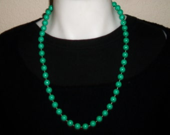 Vintage Turquoise Blue Beaded Necklace Retro Beads Baubles Costume Jewelry