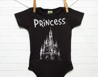 Princess Castle Organic Cotton Baby Bodysuit Infant Creeper One Piece Sustainable Clothing Fantasy Fairytale Storybook