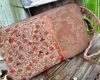 Corduroy  Cosmetic Bag, Corduroy Wristlet