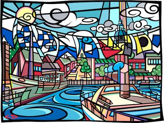 """Annapolis Harbor (8""""h x 10""""w)"""