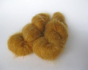 Luxury Kid Mohair, laceweight Vintage Mohair, Mustard, Honey, Ginger