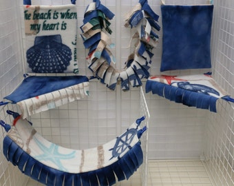 Wistful Seashore Custom Sugar Glider Cage Set
