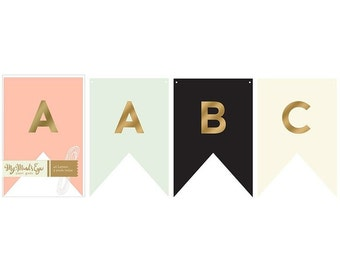 Trend Collection Letter Banner by My Mind's Eye Paper Goods | Party Banner | Party Decor