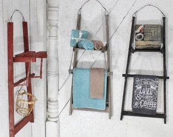 """Vintage Ladder Wall Shelf 40""""  - Choose a Vintage Surface or Pick a Color"""