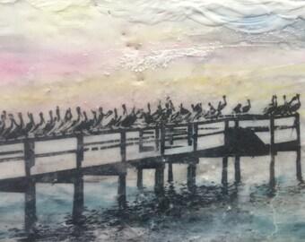 Pretty Pelicans All in a Row