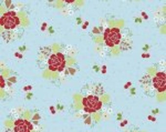 Sew Cherry 2 C5800-aqua flower