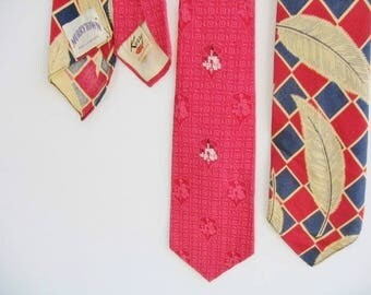Lot of 2 Vintage 1940s Men's Southwest Neckties Brody's of San Diego Label and Murrytown Label