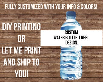 Fully Customized waterbottle-- I will create a custom design with custom text, colors, etc.