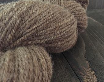 Hand Spun Shetland Moorit Yarn (2 ply)