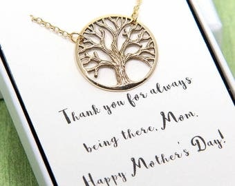 Tree of Life Necklace, Family Tree Necklace, Tree of Life Jewelry, Mothers Jewelry, Nana Necklace, Grandmother Necklace, Mothers Day Gift