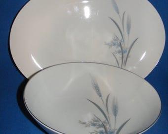 Castle Court Blue Wheat Harvest Serving Platter and Serving Bowl, Tableware, Dining