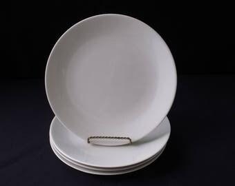 Iroquois Impromptu Bridal White Ben Seibel Dinner Plates set of 4