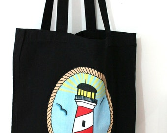 Tote bag Lighthouse old school spirit tattoo